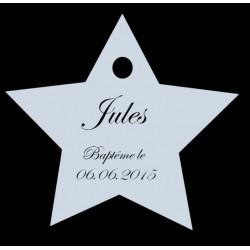 étiquettes dragées étoile bleu