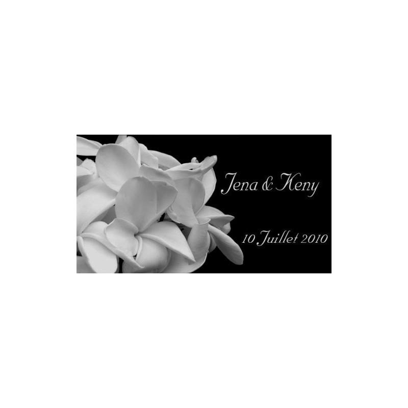 étiquette mariage noir