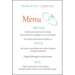 Menu carte simple